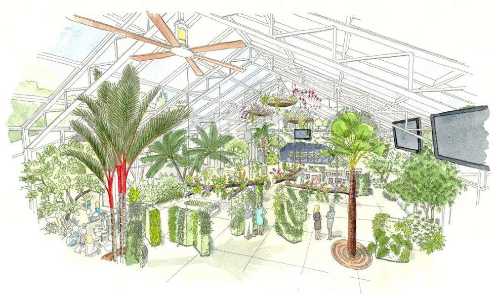 The San Diego Botanic Garden's groundbreaking on the 9,300-square-foot Dickinson Family Education Conservatory is set for Aug. 7.          Courtesy rendering