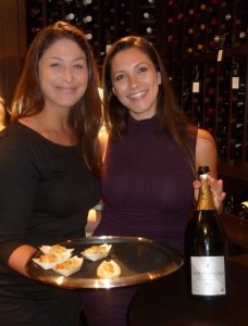Tasting Room Del Mar celebrates its grand opening recently with delicious appetizers provided by Service Manager Victoria Abdallah and Champagne by Wine Director Rusti Gilbert. Photo by Frank Mangio