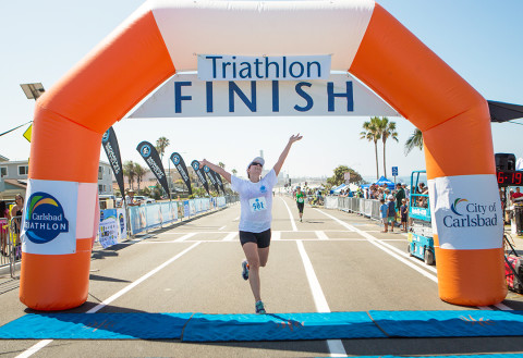 Carlsbad athletes cross triathlon finish line in fine form