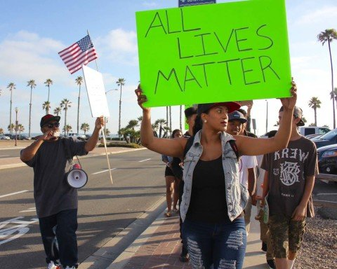 'Black Lives Matter' rally calls for peaceful solutions