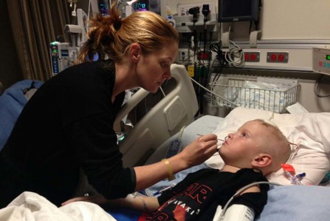 Young boy begins his battle against cancer