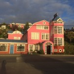 "Despite its bubblegum pink exterior, this hotel in the town of Castro, on the island of Chiloe in southern Chile, is named Unicornio Azul (Blue Unicorn). ""It has a resident ghost and creaky stairs, and all the staff lined up and gave me a kiss when I left,"" says traveler Kitty Morse of Vista. Photo by Kitty Morse"