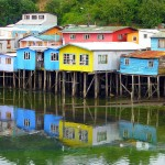 These houses on stilts (palafitos) are found on the island of Chiloe, in Chile's Lake District. Founded in 1576, Castro is Chile's third oldest city. Much of it was damaged or destroyed by an earthquake and tsunami in 1960. (Photo by Christian Córdova)