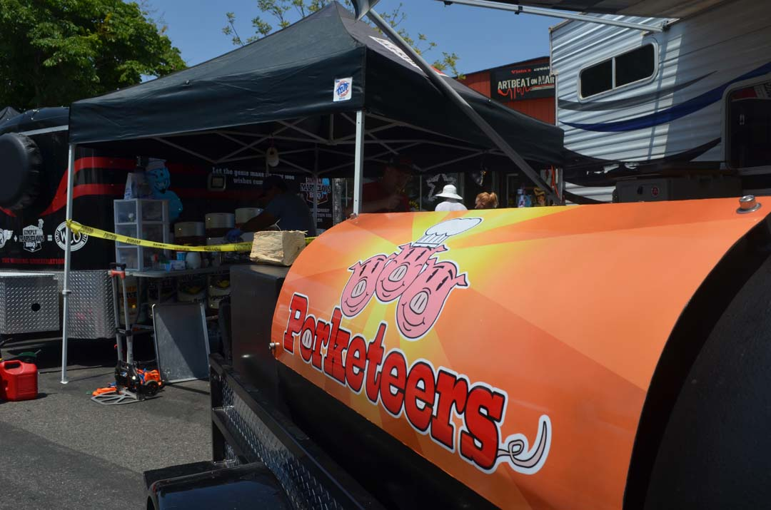 The Porketeers BBQ team is on hand for the Vista BBQ Classic on Saturday. Photo by Tony Cagala