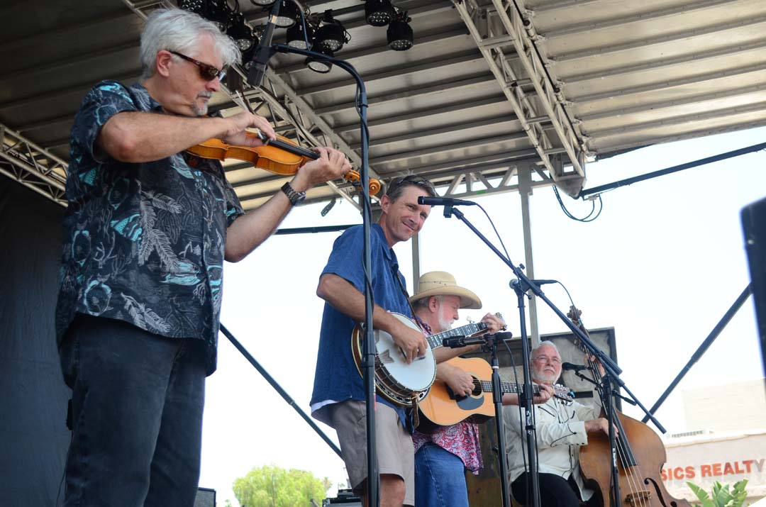 The Lightnin' Bugs Bluegrass Band performs on the mainstage of the Vista BBQ Classic. Photo by Tony Cagala