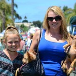 From left: Gracie Hansen, Michelle Marshall and Mia, hitching a ride in the purse) and Ozzy. Photo by Tony Cagala