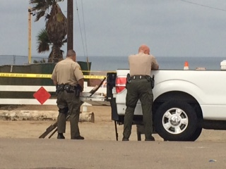 Vehicle plunges off bluff in Encinitas