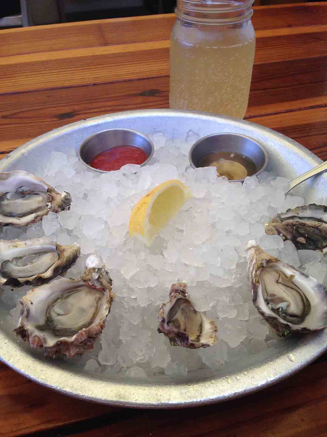 Fish 101 is the perfect place to ease into oysters with a half-dozen of their smaller Kumamoto's from Baja.