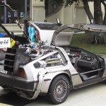 Nerd-Con fans get a blast from the past with a DeLorean at the second annual event at the California Center for the Arts, Escondido. Photo by Steve Puterski