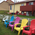 With frequent cold, gray, wet weather, residents of Saint Pierre inject a bit of color into their surroundings wherever they can. (Photo by E'Louise Ondash)