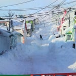 This photo in the visitors' center in Saint Pierre gives tourists a tiny sense of what winters here are like on the island. (Courtesy photo)
