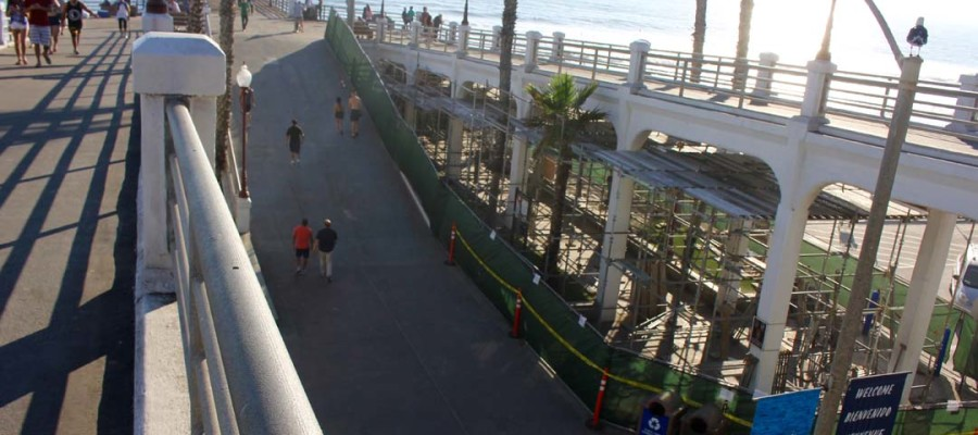Pier bridge repairs underway in O'side