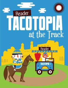 Celebrate tacos during the Tacotopia at the Track event Aug. 13 at the Del Mar racetrack. Image courtesy Alyssa Prestidge