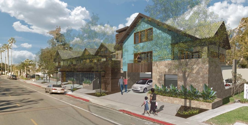 Council members authorized the developer of a proposed mixed-use affordable housing complex to seek tax-exempt bonds to fund construction. When that will start is dependent on the final outcome of an appeal filed by nearby homeowners. Courtesy rendering
