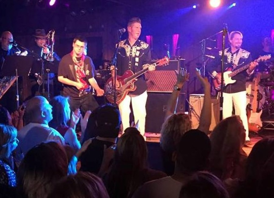 Elvis band, fans can't help falling in love with new king