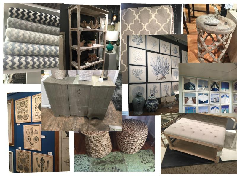 Some examples of trending beach chic décor seen at High Point Market in North Carolina. Courtesy photo
