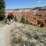 Hikers enjoy the many trails in Cedar Breaks National Monument in Southern Utah. Though not nearly as well known as nearby Bryce Canyon and Zion national parks, Cedar Breaks provides lots of colorful scenery and quiet trails. (Photo by E'Louise Ondash)