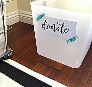"Professional Organizer Danielle Hass tells clients, ""The No. 1 thing preventing most people from staying on top of clutter is not having a donation box."" Courtesy photo"