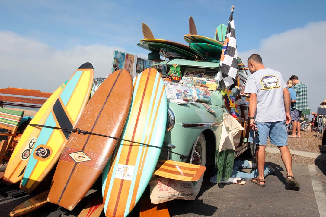 The event is a celebration of cars, music, food and surfing that celebrates coastal California's beach way of life.
