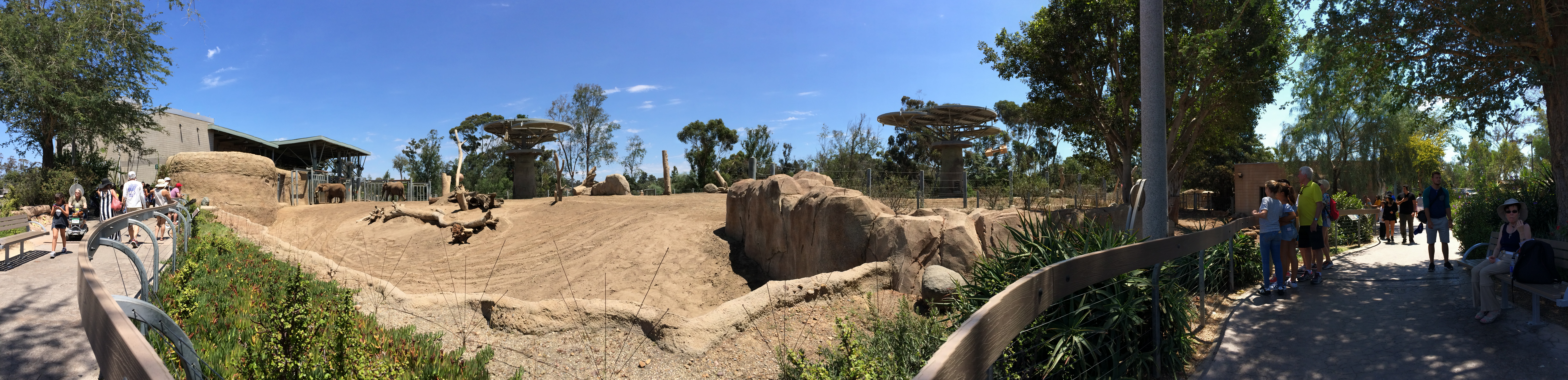 Years ago, visitors who walked the acres in the far reaches of the zoo did so without shade. Today, rich foliage provides relief from the hot August sun in the area called Elephant Odyssey. (Photo by David Paul Ondash)