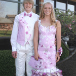 This couple won the grand prize ($20,000) in the 2016 Stuck on Prom Scholarship Contest, which was first held in 2001. Prom ensembles (couples and singles) must be made mostly of Duck Tape. The many entries are whittled to 10 by company judges, then voted on by the public. [Courtesy photo]