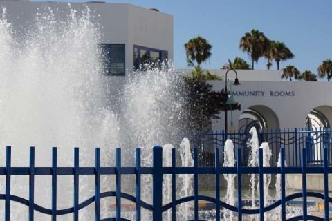 Water flows again at Civic Center fountain, city considers recycled water