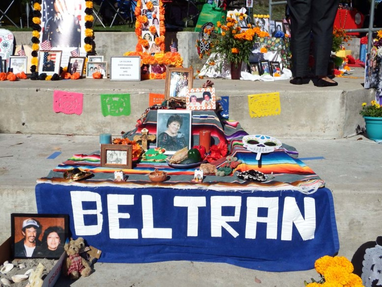 About 80 altars honoring loved ones are set up during last year's Dia de los Muertos festival at La Colonia Park. This room the staging area has been expanded to accommodate about 130.  Photos courtesy City of Solana Beach