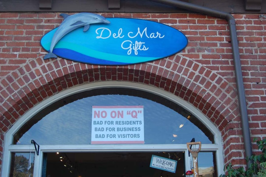 Del Mar residents will decide the fate of two initiatives Nov. 8. Measure Q is a 1 percent sales tax increase which is supported by many residents but opposed by businesses that are facing rising costs due to a mandatory minimum wage hike.  Photo by Bianca Kaplanek