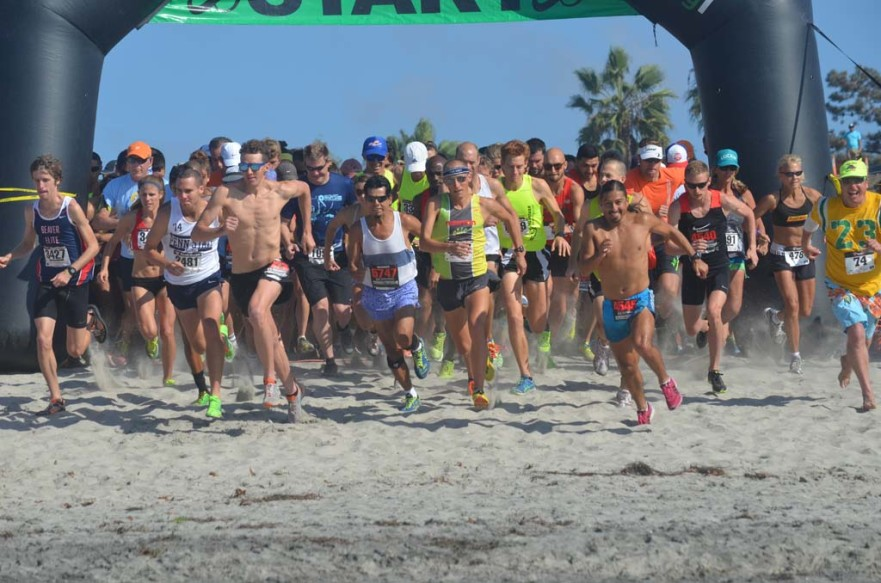 The most recent installation of the Surfing Madonna Beach Run on Oct. 15 saw more than 4,300 runners from 40 states and several countries take to Moonlight State Beach for the 5K/10K event, a 15 percent increase over last year, according to race officials.  File photo