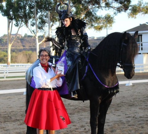 Horses, dogs get into the Halloween spirit
