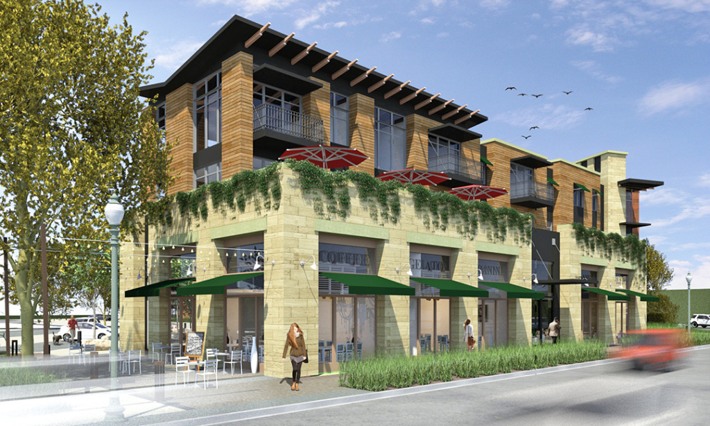 A rendering shows what the mixed-use Carlsbad Village Lofts project would look like. The project is slated to go before the Carlsbad Planning Commission in January. Courtesy rendering