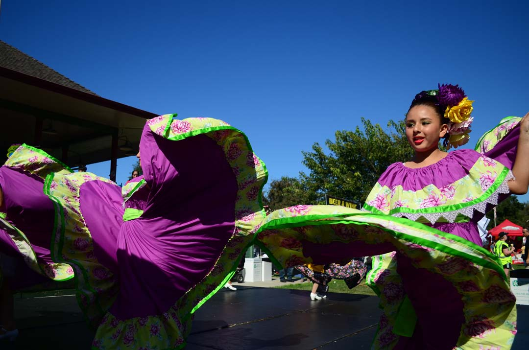 Young performers do a traditional Latin dance. Photo by Tony Cagala