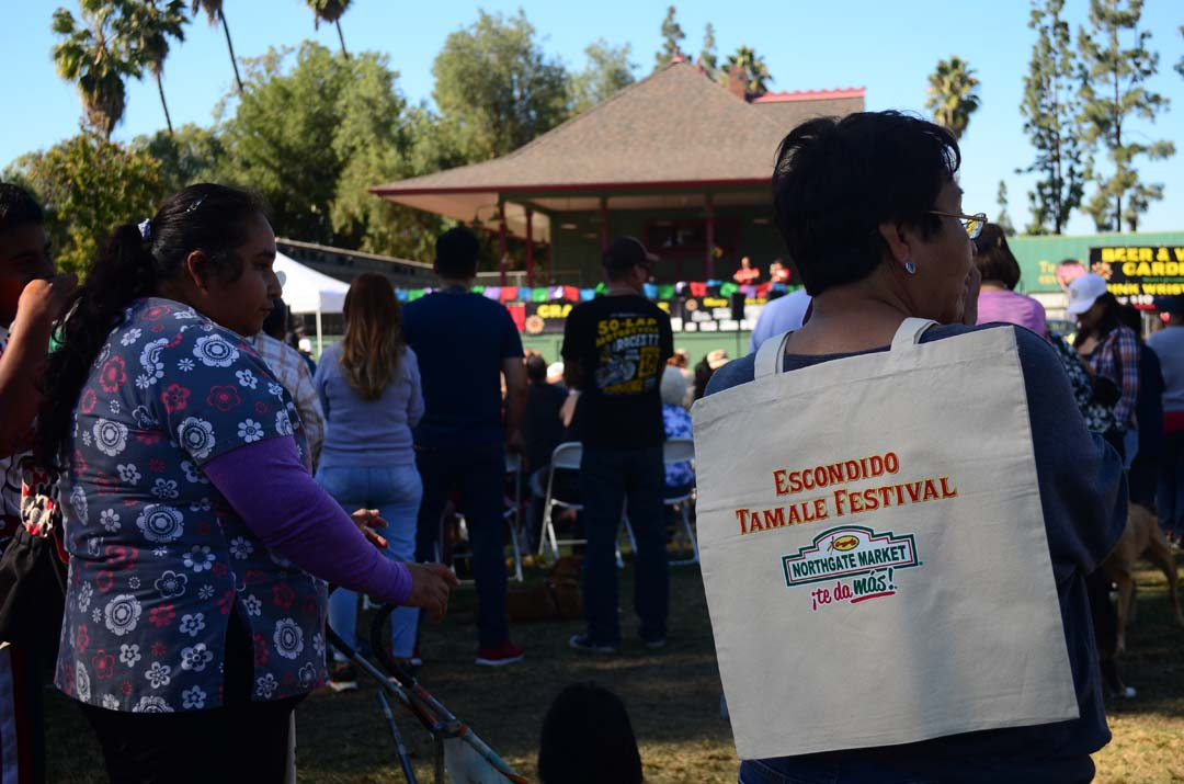 Lots of people turn out for the 2nd annual Escondido Tamale Festival at Grape Day Park. Photo by Tony Cagala