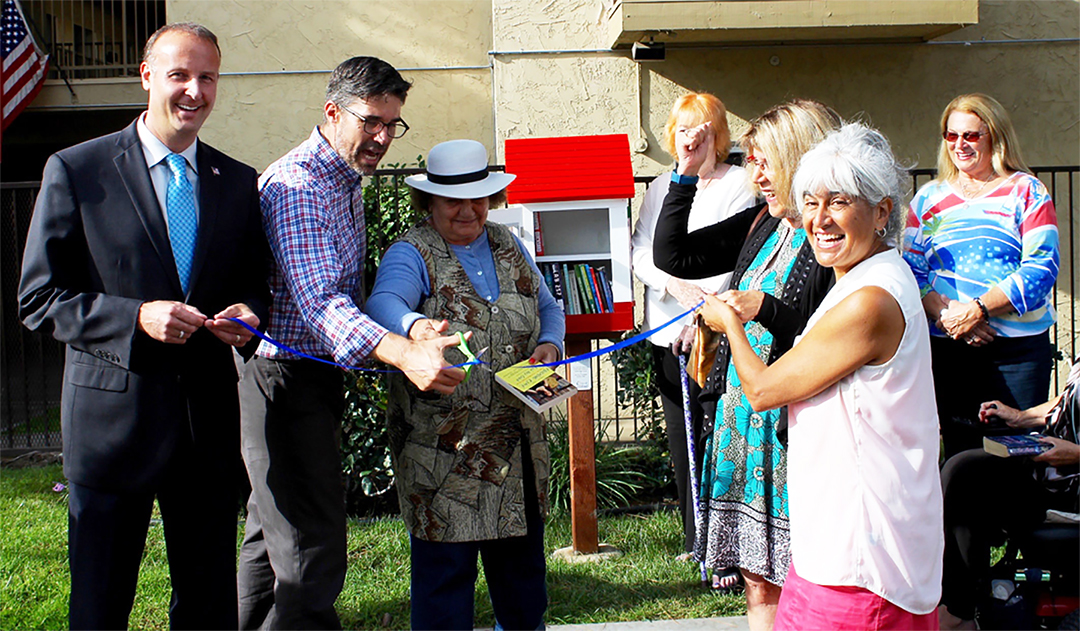 A baker's dozen of tiny libraries pop up throughout Carlsbad