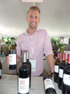 Tyler Painter of Matanzas Creek Winery in Sonoma offers an elegant Merlot 2013 at the Newport Beach Wine & Food Festival. Photo by Frank Mangio