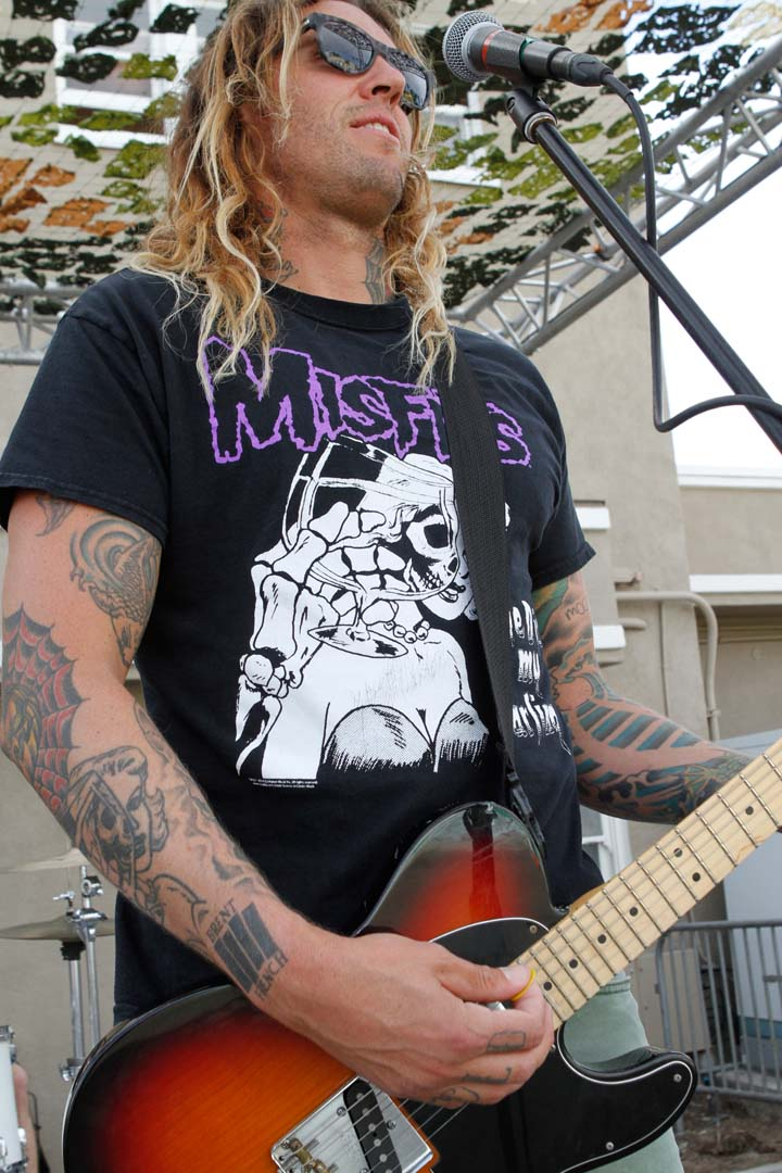 The Rock Band Ease Up performs at last Saturday's Cardiff Surf Classic Block Party. Photo by Pat Cubel