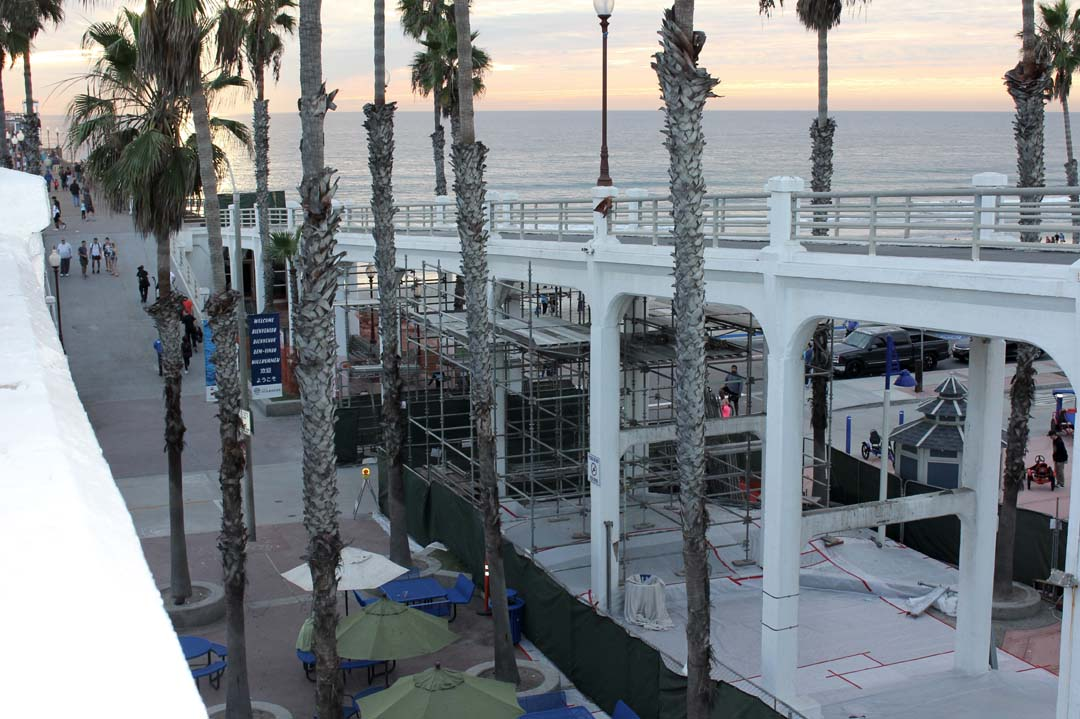 Quarter of repairs completed on Oceanside's pier bridge walkway