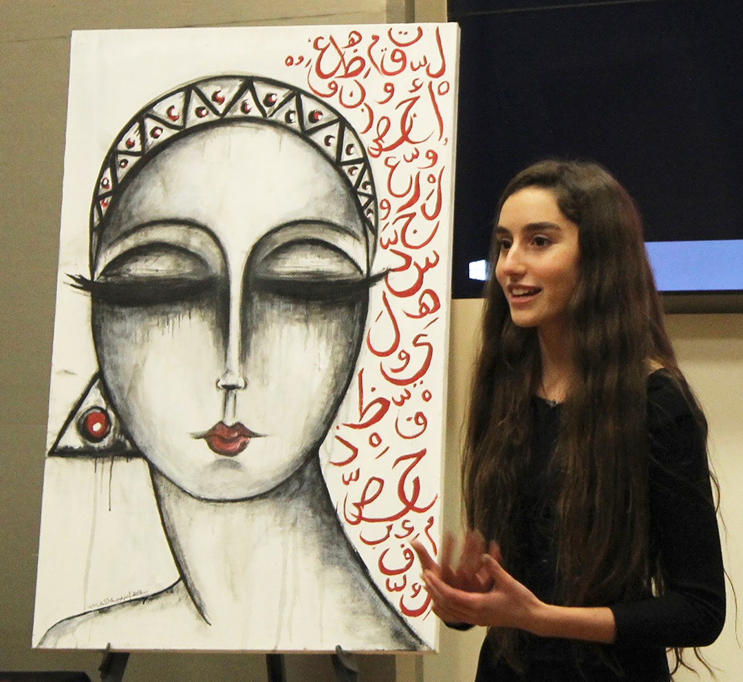 Pacific Ridge School sophomore Katie Meitchik helps to raise $2,725 so Syrian art therapist Massa Abujeib can return to her country to help children affected by the war. Courtesy photo
