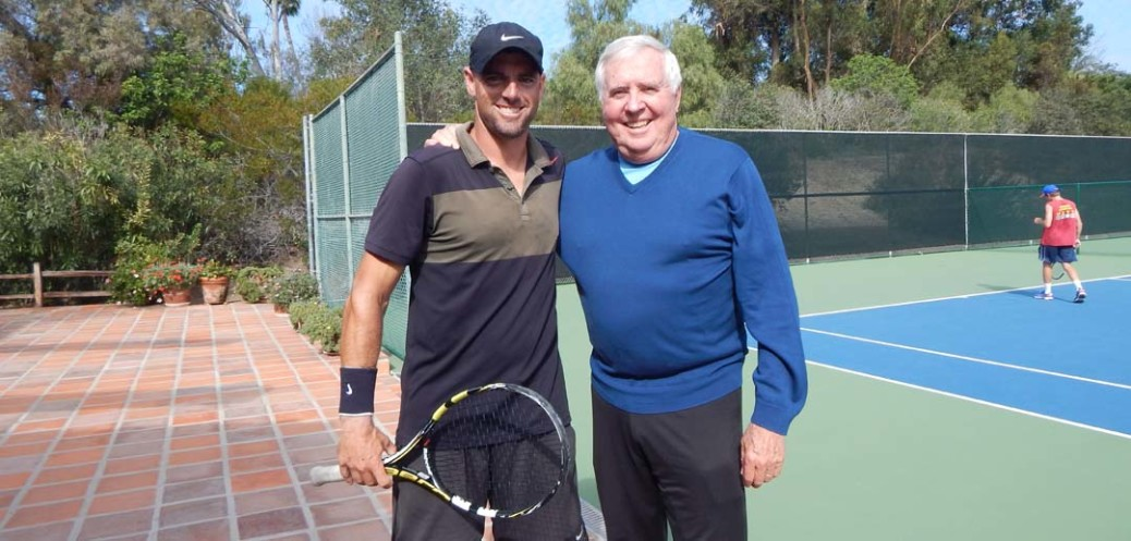 RSF Tennis Director Derek Miller, left, with Tennis Club's Board President Dave Van Den Berg. Van Den Berg reported that membership and revenues at the club are going up.  File photo by Christina Macone-Greene