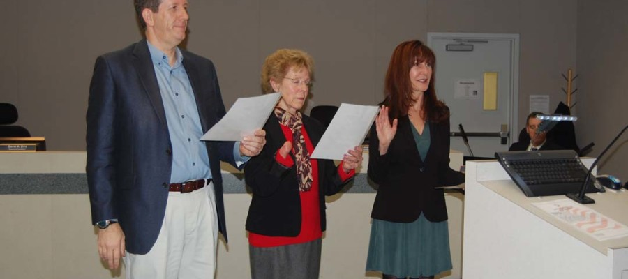 Heebner, Zahn honored; new council members sworn in
