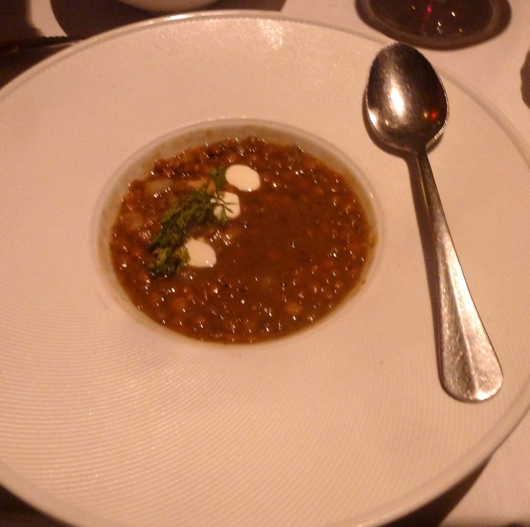 "Bracero in San Diego's Little Italy is a hot spot for rustic, country style Mexican cuisine, and a showcase for Via Guadalupe wines. A favorite on the menu is ""Nana's Lentil Soup."" Photo by Frank Mangio"