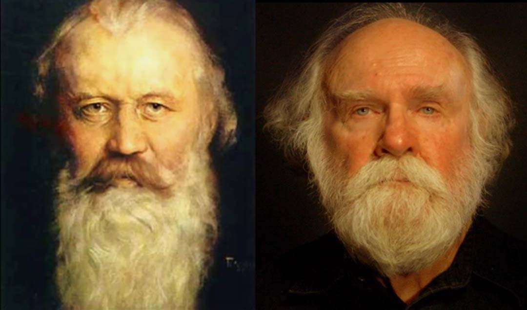 Brahms look-alike brings composer's music to life
