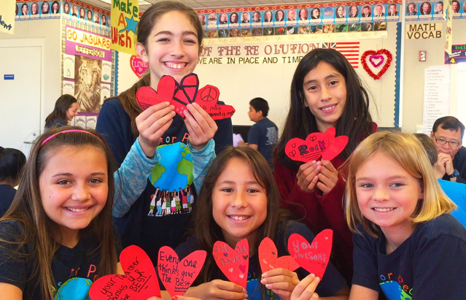 Since its founding six years ago in Carlsbad, the Great Kindness Challenge has expanded to more than 10,000 schools nationwide. Courtesy photo