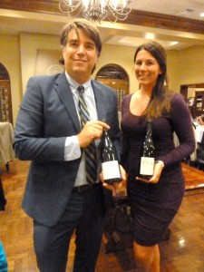 John Yelenosky and Emma Van Dusen lead a recent wine dinner celebrating Beaujolais wines at La Gran Terraza. Photo by Frank Mangio