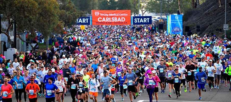 2017 Tri-City Medical Center Carlsbad Marathon & Half Marathon set for Sunday, January 15