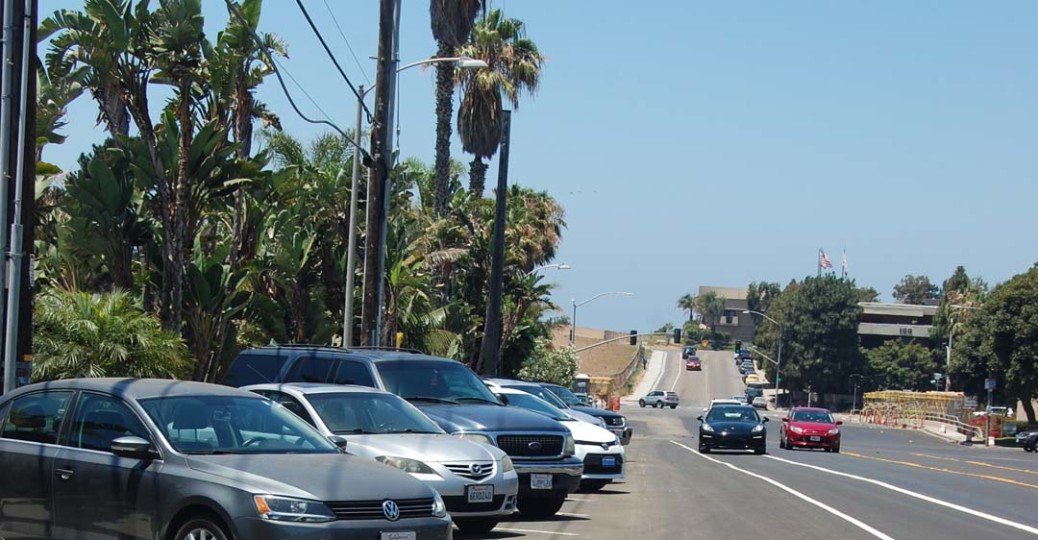 Parking rules in Del Mar will be changing after council members at the Feb. 21 meeting finally agreed to the conditions of a California Coastal Commission permit that has been in the works for more than a year. Photo by Bianca Kaplanek