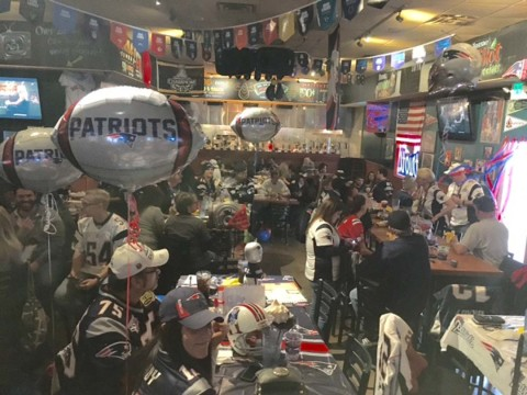 New England fans celebrate historic Super Bowl win in county
