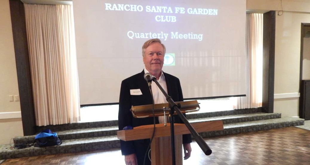 Phil Larsen, Rancho Santa Fe Garden Club president, gives club members an update on its investments at its quarterly meeting on Feb. 22. Photo by Christina Macone-Greene