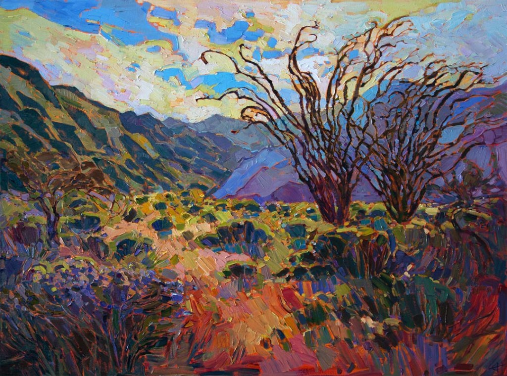 Borrego in Bloom is one of Erin Hanson's newest oil paintings inspired by the recent Super Bloom in the Anza Borrego desert. Courtesy photo
