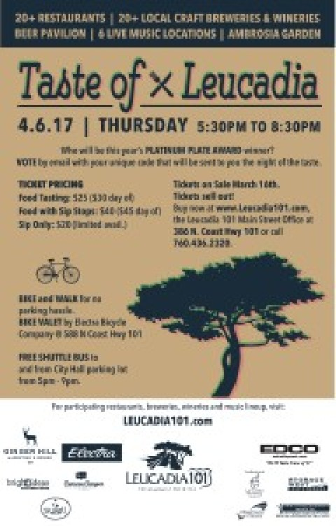 Lick the Plate: LTP favorite Taste of  Leucadia is back April 6
